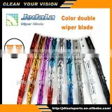Colored twin rubber refills wiper blade