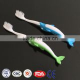 2016 new designed soft bristle feature kids tooth brushes, fish mould animal design kids toothbrush