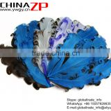 ZPDECOR Factory Wholesale Best Dyed Blues and Browns Curled Goose Feathers Pad Plumage Craft for Hair Accessories