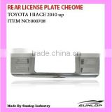 Rear license plate chrome for Toyota Hiace body parts 2010-2013