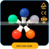 LED String Ball Lamp Light Outdoor Lighting Multicolor Mini Globe Decoration G45 LED Bulb Lamp 1W for Xmas Party