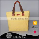 2016 Hot Sale Yellow HandBag cotton Canvas tote bag Elegant bag for women with Good Handfeeling