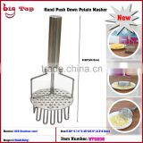 BT0208 Double Layer Stainless Steel Potato Masher Potato Ricer Fresh Potato Press Hand Push Down Potato Masher