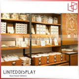 Bakery store used bread and cake display equipment made by plywood