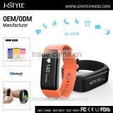 Soft silicone bracelet watch bluetooth continuous heart rate monitor compatible with smart mobile phone