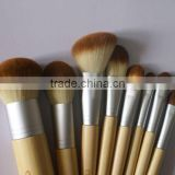 High quality popular bamboo makeup brush set,available in various color,Oem orders are welcome