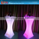 led plastic table/led light bar table/events party Led Coffee Table With Remote,Illuminated Bar