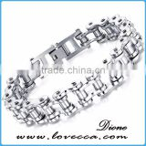 Best Selling Fashion Stainless Steel Men Bangle Jewelry 316l titanium bike chain bracelet