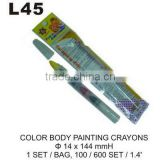L45 COLOR BODY PAINTING CRAYONS