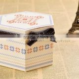 x'mas hexagonal Paper boxes of cookies Cupcake Bakery confectionery Packaging boxes Gift