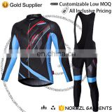 design sublimation custom bicycle wear manufacturer long sleeve bib mens cycling jersey sets mountain bike clothing