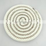 European style cotton hand weave plain white pot holder
