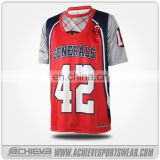 Customize wholesale full sublimation Mesh lacrosse jerseys