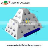 Floating inflatable iceberg, inflatable water rock climbing, water roller coaster, water climbing hill