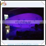 Attractive inflatable led blimp, commercial led lighted inflatable zeppelin,giant inflatable helium airship for sale