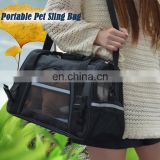Porttable and Ventilated Outdoor Dog House 600D Oxford Trendy Fabric Animal Carrier Pet Sling Bag