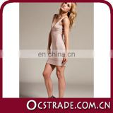 2014 whoelsale beige color halter nice evening dresses