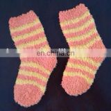 orange socks striped design for baby kids