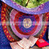 Twin Mandala Tapestry, Mandala Wall Hanging, Hippie Tapestry, Round, Indian Tapestry, Cotton Tapestries, Mandala Bed Spread,