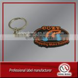 Injection Factory Super Market Promotion Souvenir Use And Flexible Style 1C Prined Backside Cheap Custom Rubber Keychain