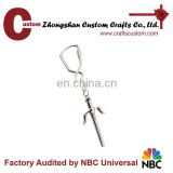 Hot Sale Blank silver Sword souvenir metal keychain as gifts