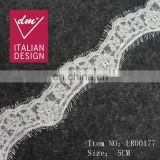Top quality embroidery eyelash elegant lace fabric