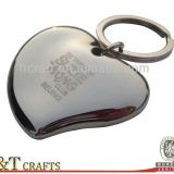Fashion custom made 3D heart shaped keychain with laser logo