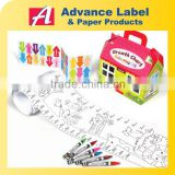 DIY Kids toy Animal Growth Chart Sticker Colouring Kit Drawing set