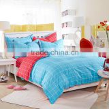 Wholesale price 100%cotton red palid print flat sheet Chinese bedding wholesale children's bedding sets