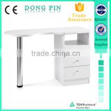 very cheap factory sale salon furniture double nail table