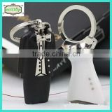 2014 high quality cute metal dress keyring baby shower party supplies                                                                         Quality Choice