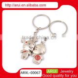 Cute boy girl couple keychain metal keychain couple keychain