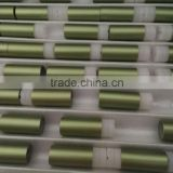 Discounted price high grade green color aluminium tube for cosmetic (aluminum cosmetic tube)