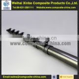 Durable to contract and expand telescopic pole with horizontal Clamps for Locking System