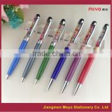 Crystal Capacitive Touch Ballpoint Pen, colors crystal filled pen
