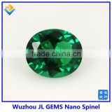 High Quality oval cut green Emerald 114# Nano Spinel stone