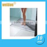 Weldon side outlet rectangular shower drains tile insert linear shower drain