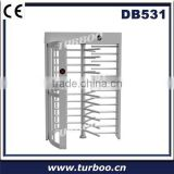 Security revolving card reader mounting plates full height turnstile with public channel management