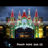 3d Christmas Castle led outdoor lighting style Christmas decorations fairy festival decoration