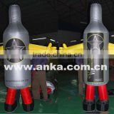 Customized inflatable moving cartoon wine bottle costume                                                                                                         Supplier's Choice