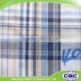 China wholesale latest design cotton madras yarn dyed shirt check fabric