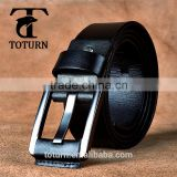 latest design business mans genuine leather belt made in China tailoring black outsourcing classical men belt