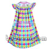 Beautiful birthday hand smocked bishop dress