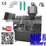 Micmachinery easy operate glue filler shoe polish sealing and filling machine metal tube filler and sealer