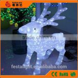 2014 -2015 very popular 3D 50cm standing Acrylic outdoor christmas reindeer lights