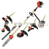 62cc pole gasoline long pole chain saw and trimmer 7 in 1 garden tools for with CE SAA EMC GS certificate