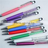 hot selling promotional metal crystal gift pen ,ballpoint pen twist,unique stylus pens