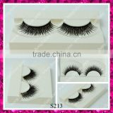 Thick private label wholesale synthetic double layer false eyelashes for women