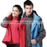 Outdoor hiking jacket with removable fleece jacekt