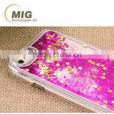 Liquid flow Cell phone case For samsung galaxy s6 Mobile phone cover Transparent case For samsung s5